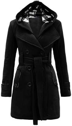 Noroze Womens Check Hood Coat ( (UK 16), )