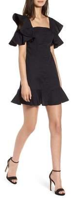 KENDALL + KYLIE Ruffle Sleeve Dress