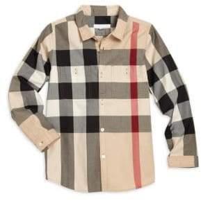 Burberry Little Boy's& Boy's Camber Check Shirt