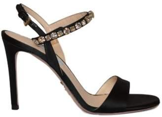 Prada Crystal Embellished 100 Sandals