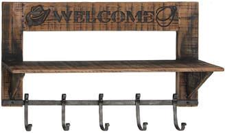 Uma Enterprises Wood Metal Wall Shelf Hook