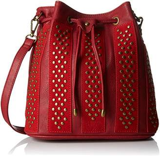 Le Temps Des Cerises Rocky 2, Women's Cross-Body Bag, Rouge, 12x27x30 cm (W x H L)