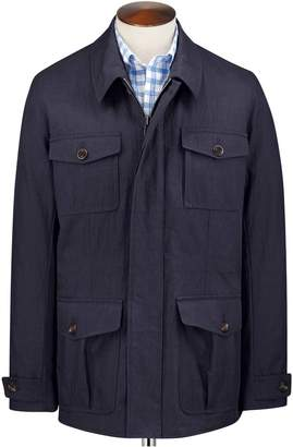 Charles Tyrwhitt Navy Field Cotton Jacket Size 40