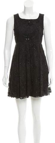 Alice + Olivia Lace Embellished Dress