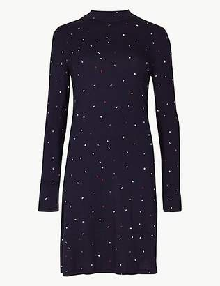 M&S Collection Jersey Letter Print Swing Mini Dress