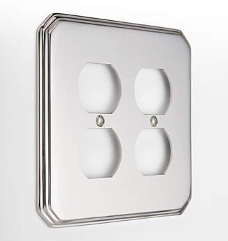 Rejuvenation Deco Double Duplex Switchplate