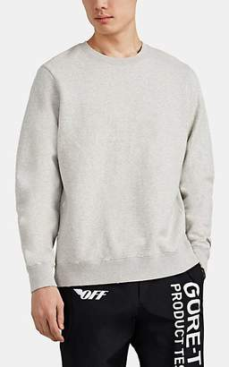 Ovadia & Sons Men's Distressed Cotton-Blend Fleece Crewneck Sweatshirt - Light Gray