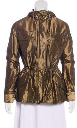 Lauren Ralph Lauren Metallic Hooded Casual Jacket