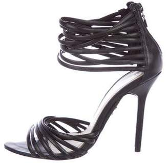 Herve Leger Olesia Leather Sandals