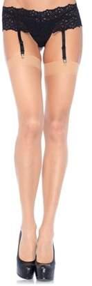 Leg Avenue Queen Sheer Thigh High Stockings 1001Q Black,Nude,Red,White