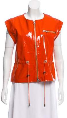Oscar de la Renta Patent Leather Vest