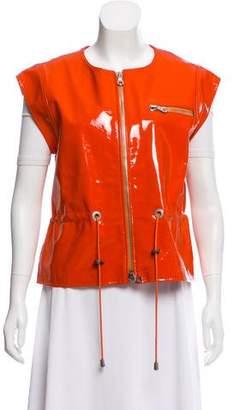 Oscar de la Renta Patent Leather Vest