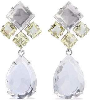 Bounkit Convertible Silver-Tone Quartz Earrings