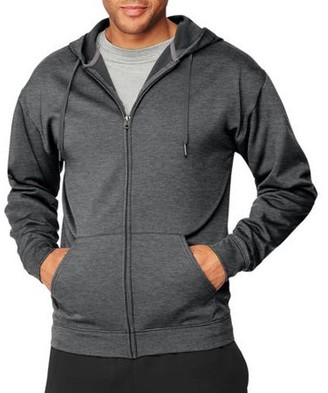 Hanes Sport Big Men's Performance Fleece Full-Zip Hoodie