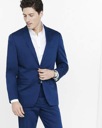 Express Classic Blue Cotton Sateen Suit Jacket