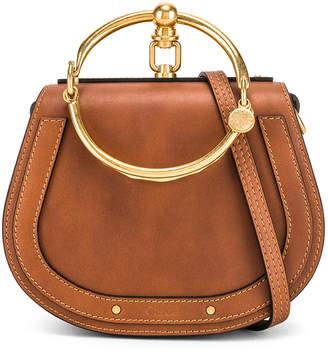 Chloé Small Nile Calfskin & Suede Bracelet Bag in Caramel | FWRD