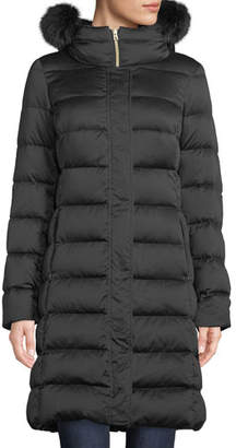 Herno Long Down-Fill Puffer Coat w/ Fur Hood