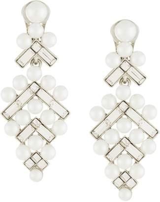 Oscar de la Renta embellished pearl earrings