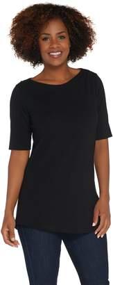 Denim & Co. Essentials Petite Perfect Jersey Tunic