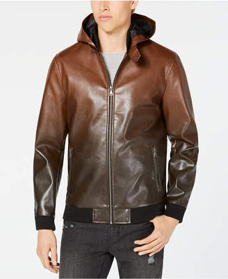 INC International Concepts I.n.c. Men's Faux Leather Hooded Jacket, Created for Macy's