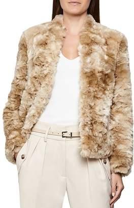 Reiss Millie Faux Fur Teddy Coat