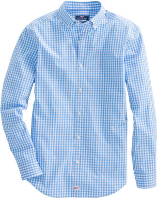 Vineyard Vines Mens Carleton Gingham Classic Stretch Murray Shirt