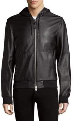 Mackage Woodrow Hooded Leather Bomber