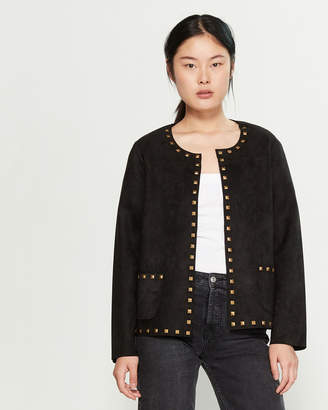 Carmen Marc Valvo Carmen Faux Suede Studded Jacket
