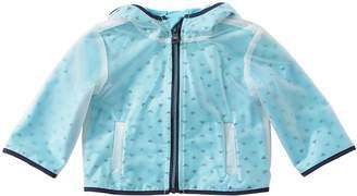 Emporio Armani Pvc Rain Jacket W/ Logo Jersey Lining