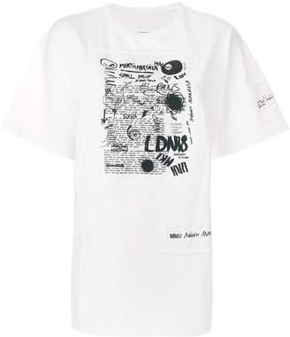 MM6 MAISON MARGIELA scribble patch T-shirt