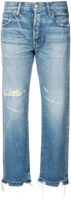 Moussy cropped straight jeans