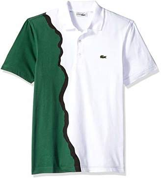 Lacoste Men's Short Sleeve '85th Anni' 90's Graphic Pique Polo