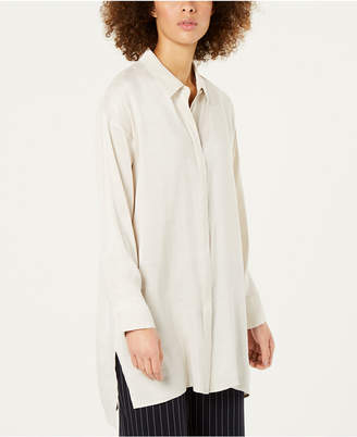 Eileen Fisher Silk Button-Front Shirt
