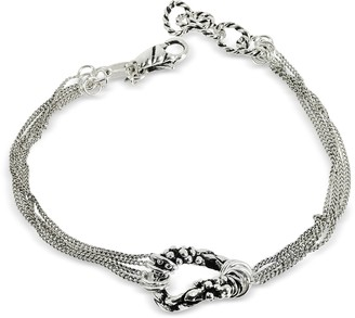 Giacomo Burroni Multi Chain Bracelet w/Ring