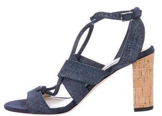 Jimmy Choo Chambray Ankle Strap Sandals