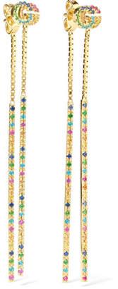 Gucci 18-karat Gold Multi-stone Earrings