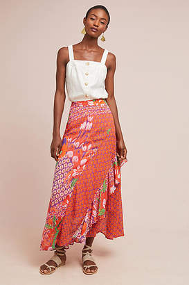 Maeve Ginza Ruffled Maxi Skirt