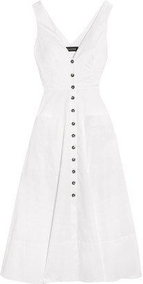Saloni - Zoe Cutout Cotton-blend Dress - White $475 thestylecure.com