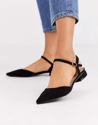 Myla Raid RAID black ankle strap flat shoes