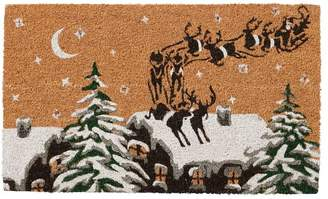 HOLIDAY At Pottery Barn Reindeer Rooftop Light Up Doormat