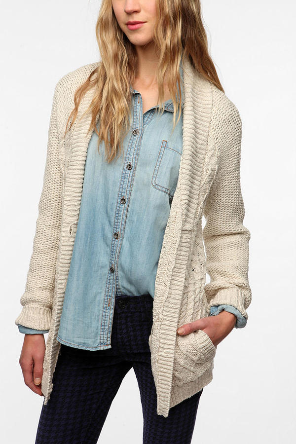 Urban Outfitters Coincidence & Chance Mixed Stitch Classic Cardigan