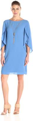 Amy Byer Women's Day-to-Night Scoop-Neck Tulip-Sleeve Dress