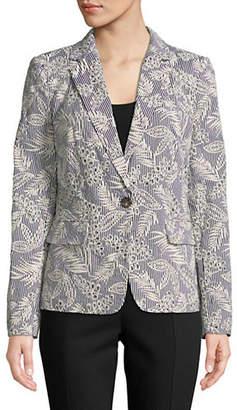 Donna Karan Embroidered Cotton Jacket