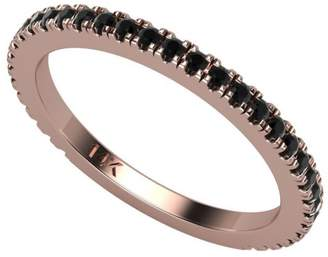 Black Diamond 14K Rose Gold .35 Ct Round Band Ring