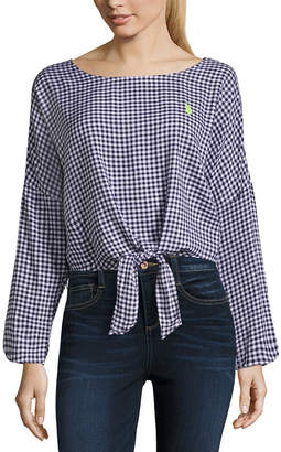 U.S. Polo Assn. Long Sleeve Dress Shirt-Juniors