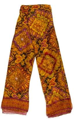 Chanel Chiffon Silk Stole Orange Chiffon Silk Stole
