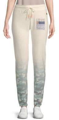 Peace Love World Camouflage Ombre Pants