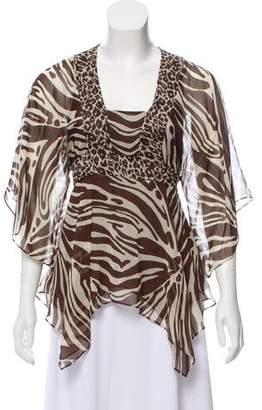 MICHAEL Michael Kors Printed Silk Blouse