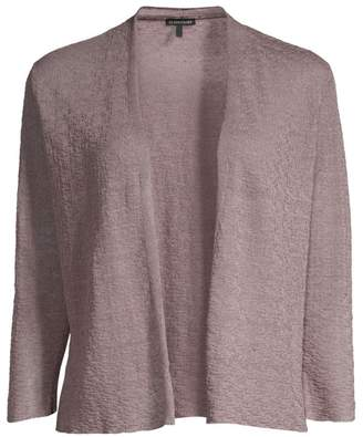 Eileen Fisher Fine Organic Linen-Blend Crepe Cardigan