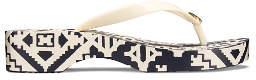 Tory Burch Printed Carved Wedges Flip Flops